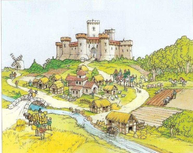 Reconstitution d'une seigneurie au Moyen âge