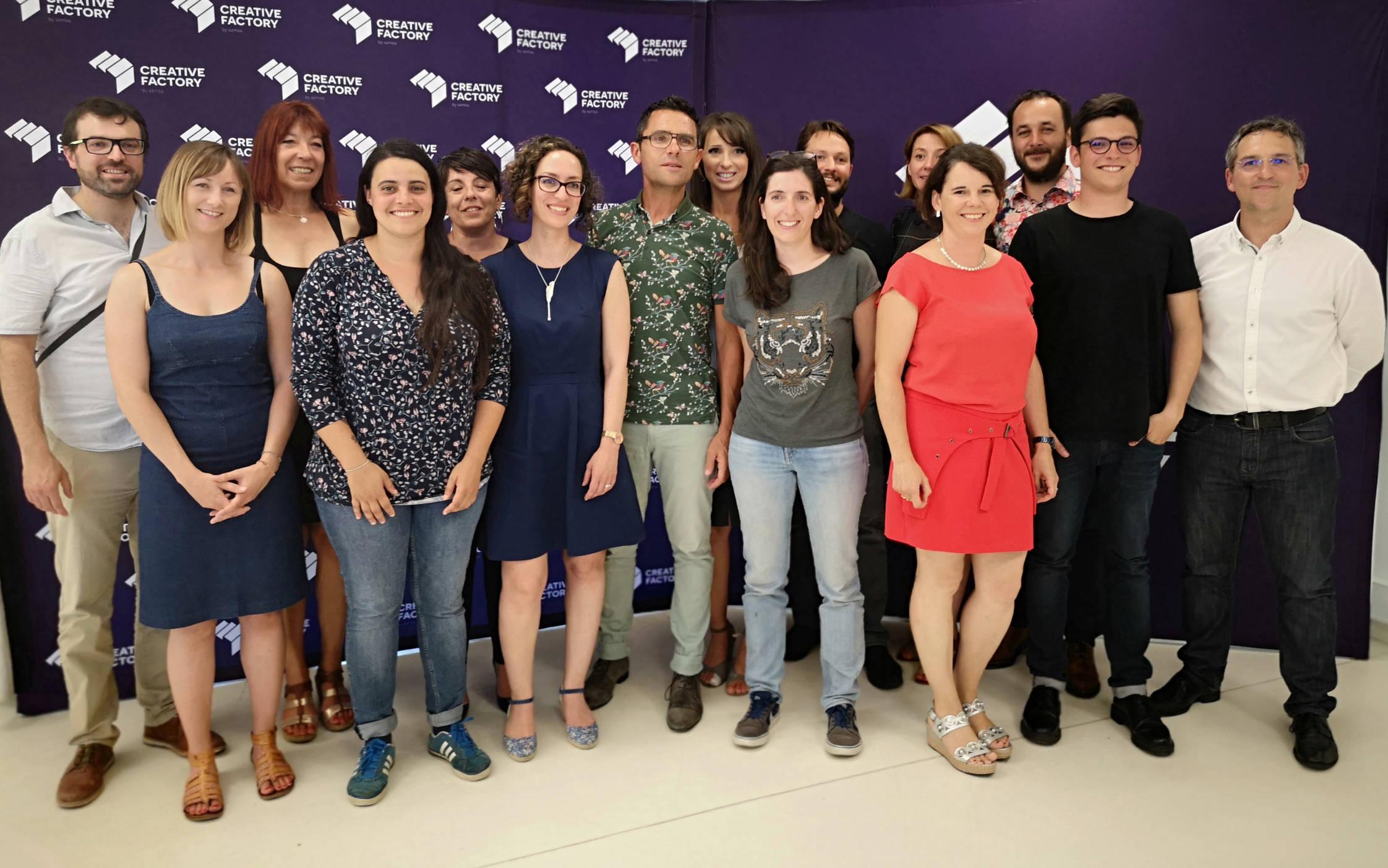 Les lauréats et l'équipe de la Creative Factory Selection